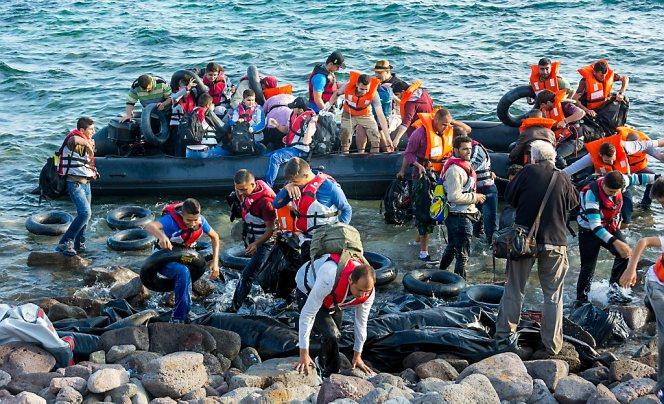 Vluchtelingenproblematiek op Lesbos