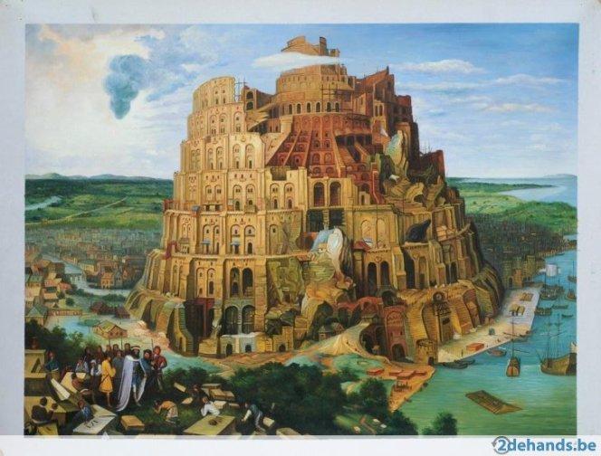 272218311-pieter-bruegel-de-toren-van-babel-echt-schilderij